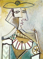 Pablo Picasso. Bust with a hat 1