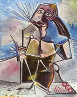 Pablo Picasso. Seated Man