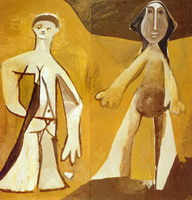 Pablo Picasso. Two standing figures