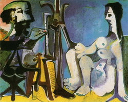Pablo Picasso. The Artist and His Model